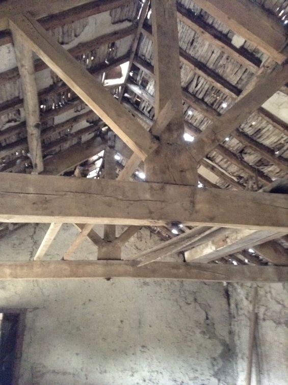 Restoration Girl * roof trusses