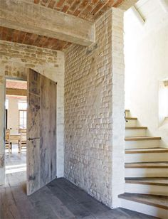 Restoration Girl * Yummy Exposed Stone Walls