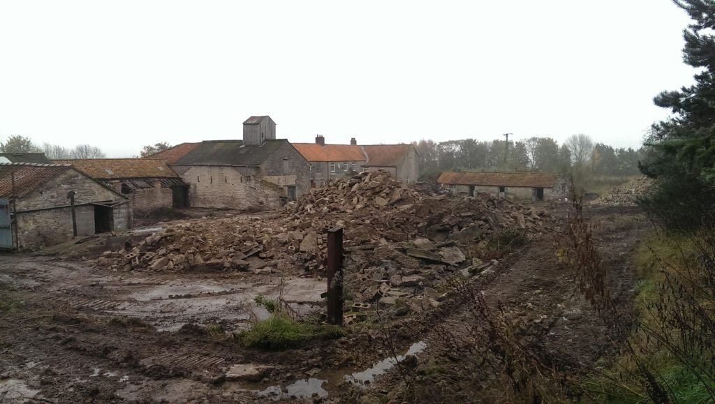 Restoration Girl| Demolition of Farm Buildings